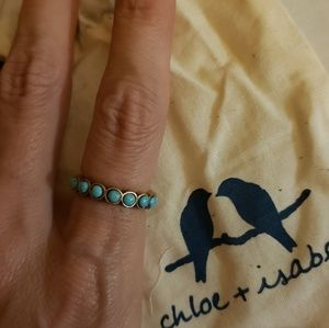 Golden Lotus Turquoise Ring